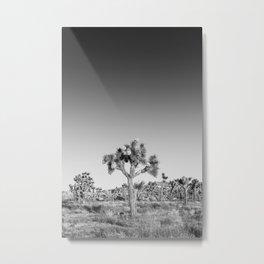 Monochrome Joshua Tree Metal Print