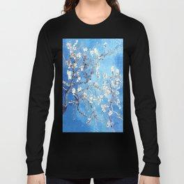 Vincent Van Gogh Almond Blossoms. Sky Blue Long Sleeve T-shirt