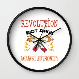 This is the awesome revolutionary Tshirt Those who make peaceful revolution START THE REVOLUTION Tee Wall Clock