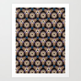 Till All Are One - Futuristic Surface Pattern Art Print