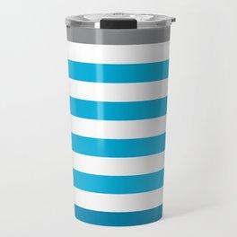 Stripes Gradient - Blue Travel Mug