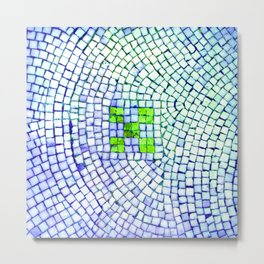 artisan 22.06.16 in lime & shades of blue Metal Print