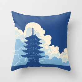 Nara Skyline Throw Pillow
