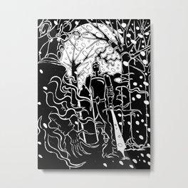 Krampus Vs. Saint Nicholas Metal Print