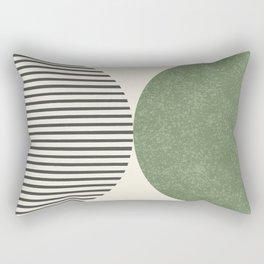 Semicircle Stripes - Green Rectangular Pillow