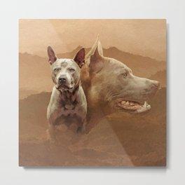 Thai ridgeback dogs collage Metal Print