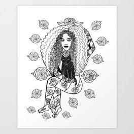 Rose Gal Art Print