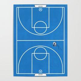Shoot Hoops | Aerial Basketball Poster