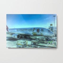 Emirates Airbus A380-800 Metal Print