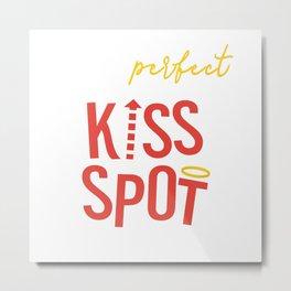 Perfect Kiss Spot Metal Print