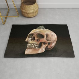 Little mouse and skull Rug