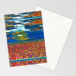 Light in My Art Stationery Cards