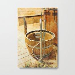 Wooden bucket Metal Print