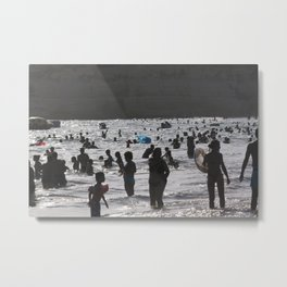 Shadow Beach Metal Print