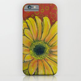 Gerber Daisy Bubbles iPhone Case
