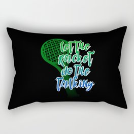 Tennis Racket Rectangular Pillow