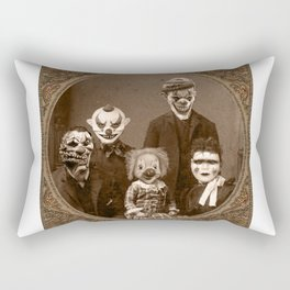 Creepy Clown Family Halloween Rectangular Pillow