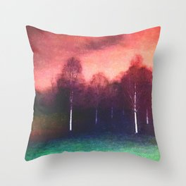 avenue of the sliver birch Throw Pillow