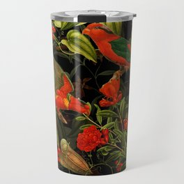 Vintage & Shabby Chic - Midnight Tropical Garden I Travel Mug