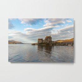 Eilean Donan Castle, Dornie, Kyle of Lochalsh, The Highlands, Scotland Metal Print