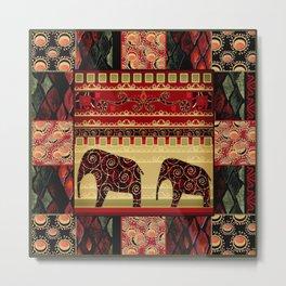 African motifs. Metal Print