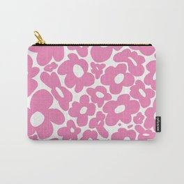 60s 70s Hippy Flowers Pink Carry-All Pouch