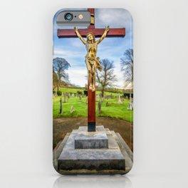 Jesus On The Cross iPhone Case