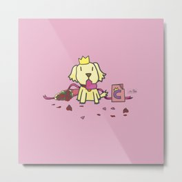 Charlie the Conqueror - Be My Valentine Metal Print