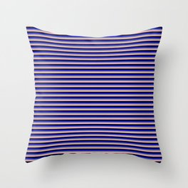 Blue, Light Slate Gray, Light Pink, and Black Colored Lines/Stripes Pattern Throw Pillow