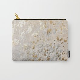 Gold Hide Print Metallic Carry-All Pouch
