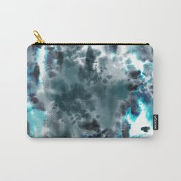 Neon Turquoise Tie-Dye Carry-All Pouch
