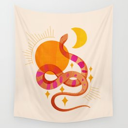 Abstraction_SUN_MOON_SNAKE_Minimalism_001 Wall Tapestry