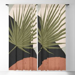 Tropical Leaf- Abstract Art 5 Blackout Curtain