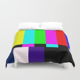 No Signal TV Duvet Cover