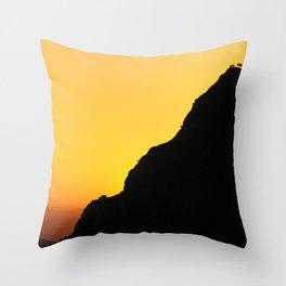"""Sunset at the mountains"". Boca de la Pescá""(1.512 meters). Throw Pillow"