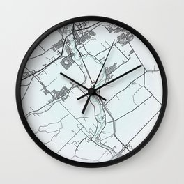 Levis, QC, Canada, White, City, Map Wall Clock