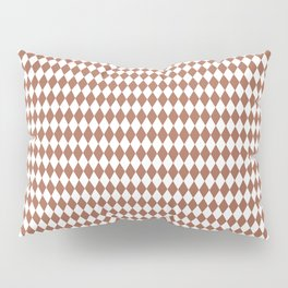 Sherwin Williams Cavern Clay and White Harlequin, Rhombus, Diamond Pattern Pillow Sham