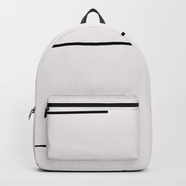 Mudcloth white black dashes Backpack