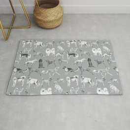 17 Dogs in ink Rug