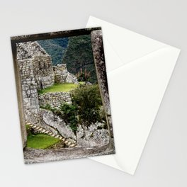 Through the Window at Machu Picchu Stationery Cards