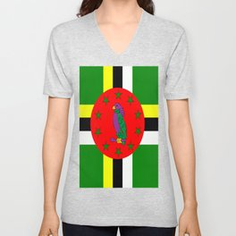 . Flag of Dominica Unisex V-Neck