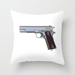 American Semi-automatic Pistol Throw Pillow