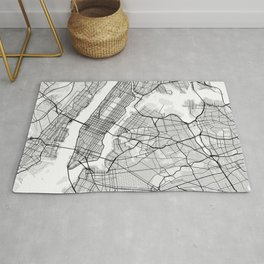 New York City Map of United States Rug