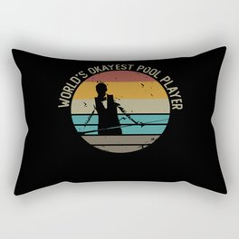 World's Okayest Pool Player Vintage Billiard Rectangular Pillow