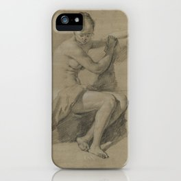 Sitting Female figure iPhone Case