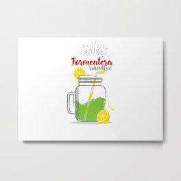 Formentera: Summer, sun, sea & smoothies Metal Print