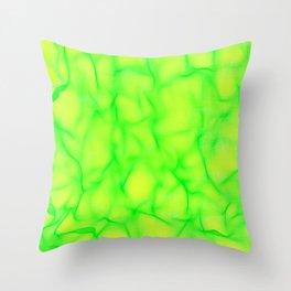Lucid Green Throw Pillow