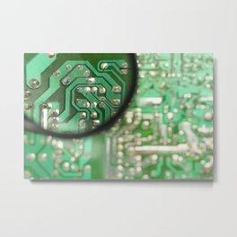 Circuit board Metal Print