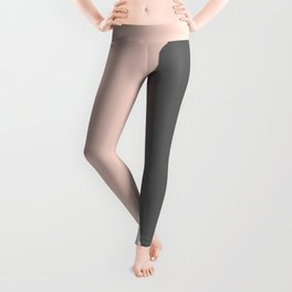 Elegant blush pink & grey geometric triangles Leggings