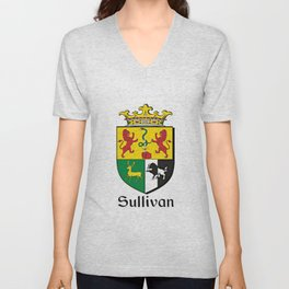 Family Crest - Sullivan - Coat of Arms Unisex V-Neck